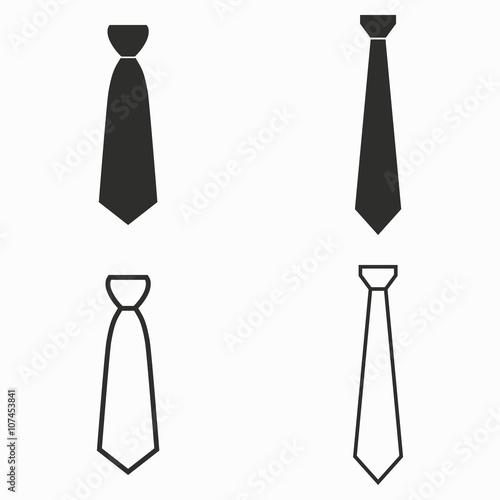 Fotografia  Necktie  vector icons.