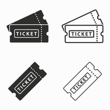 Ticket  Vector Icons.