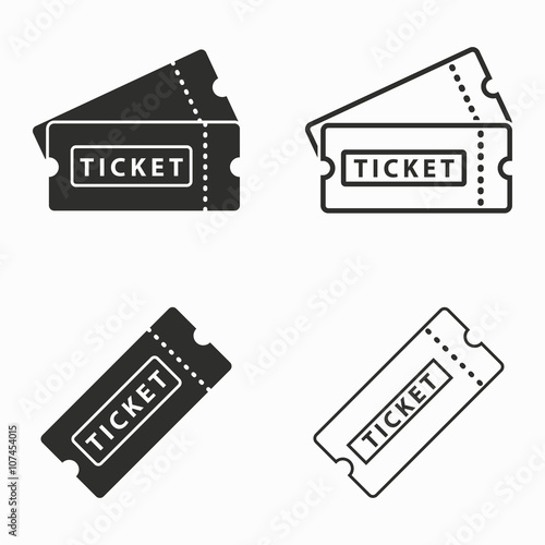Ticket  vector icons. Wallpaper Mural