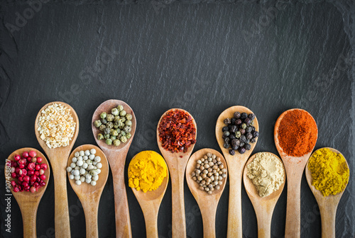 Keuken foto achterwand Kruiden Herbs And Spices Selection