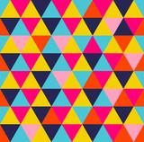 Colorful triangle geometric seamless pattern - 107464235