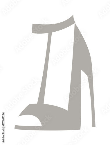 4c6d0b949c High heels with inner platform sole grey patent leather shoes foot  accessory flat vector.