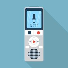 Dictaphone Icon, Flat Design S...