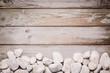 Stein und Holz Schild