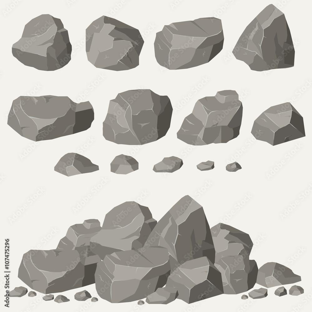 Fototapeta Rock stone set