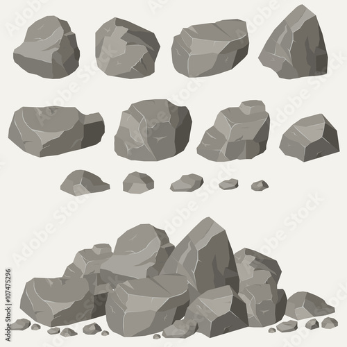 Rock stone set Wall mural