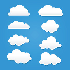 Fototapeta Collection of Clouds in Different Shape And Sizes