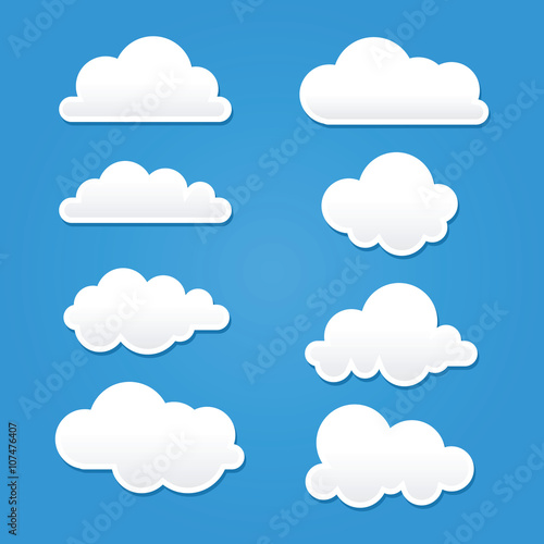 Obraz Collection of Clouds in Different Shape And Sizes - fototapety do salonu
