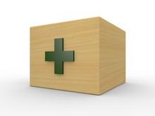 木製の救急箱