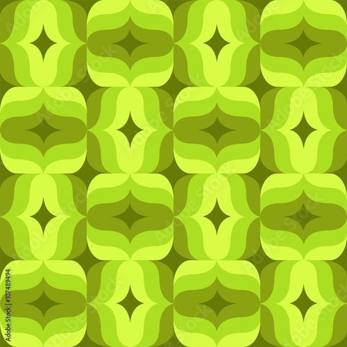 Seamless Retro Pattern With Flowers And Leaves 6