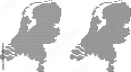 Fotografie, Obraz  map of Netherlands