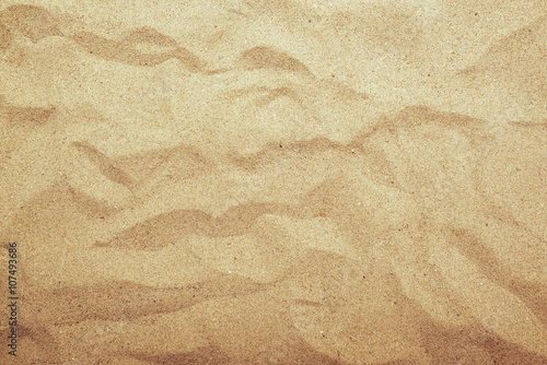 Photo  Sand texture top view, gradient light