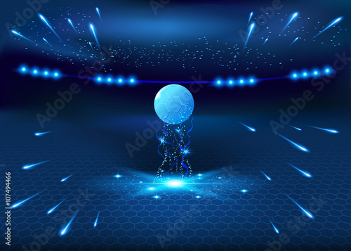Soccer night stadium - abstract vector background Canvas Print