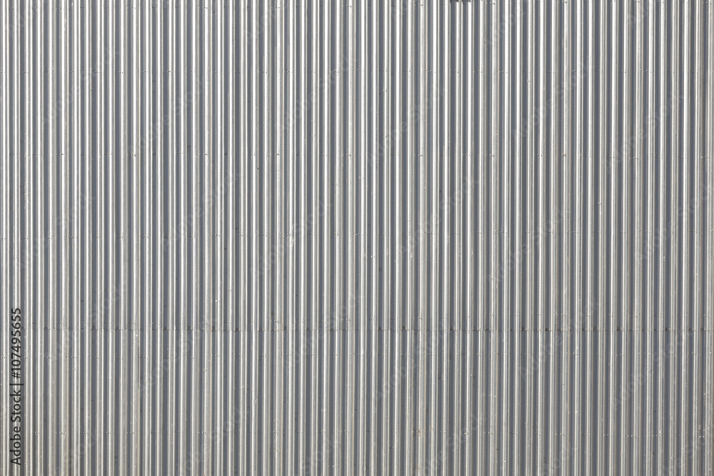 Fototapety, obrazy: Corrugated metal roof picture taken from above, industrial background or texture.