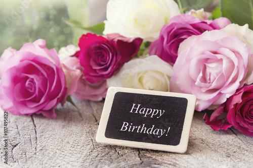 Happy Birthday Gratulation card, birthday greetings with