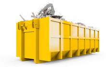 Yellow Rubble Container Perspe...