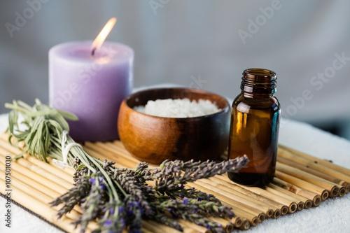 Obraz na plátně  Zásobník krásy terapie položek