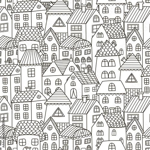 doodle-domy-bez-szwu-wzor-czarny-i