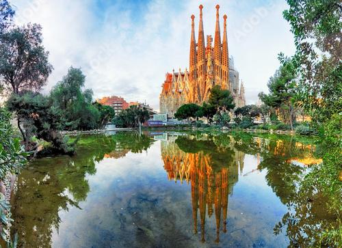 Foto op Canvas Barcelona Sagrada Familia