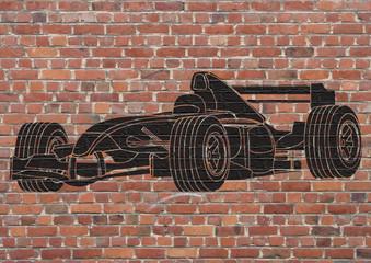 Fototapeta Formuła 1 Street art, Voiture de course Formule 1