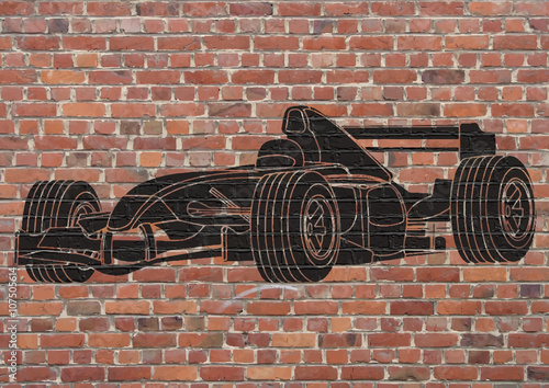 Photo Street art, Voiture de course Formule 1