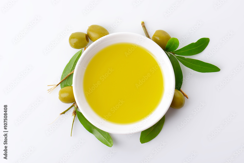 Fototapety, obrazy: Bowl of olive oil