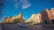 madrid sunny panorama of metropolis building city aerial 4k time lapse spain
