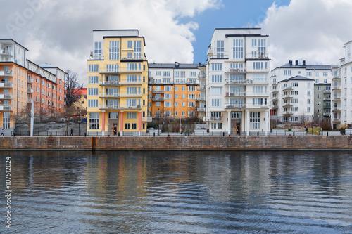 Keuken foto achterwand Buenos Aires Stockholm, Sweden - March, 16, 2016: landscape with the image of Stockholm, Sweden