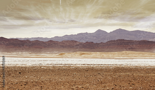 Fotobehang Droogte colorful mountains in the desert, southern California
