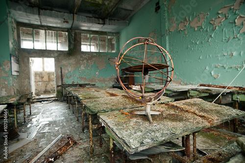 Fotografie, Obraz  cabinet astronomy in the school city of Pripyat