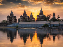 Royal Cenotaphs Of Orchha, Mad...