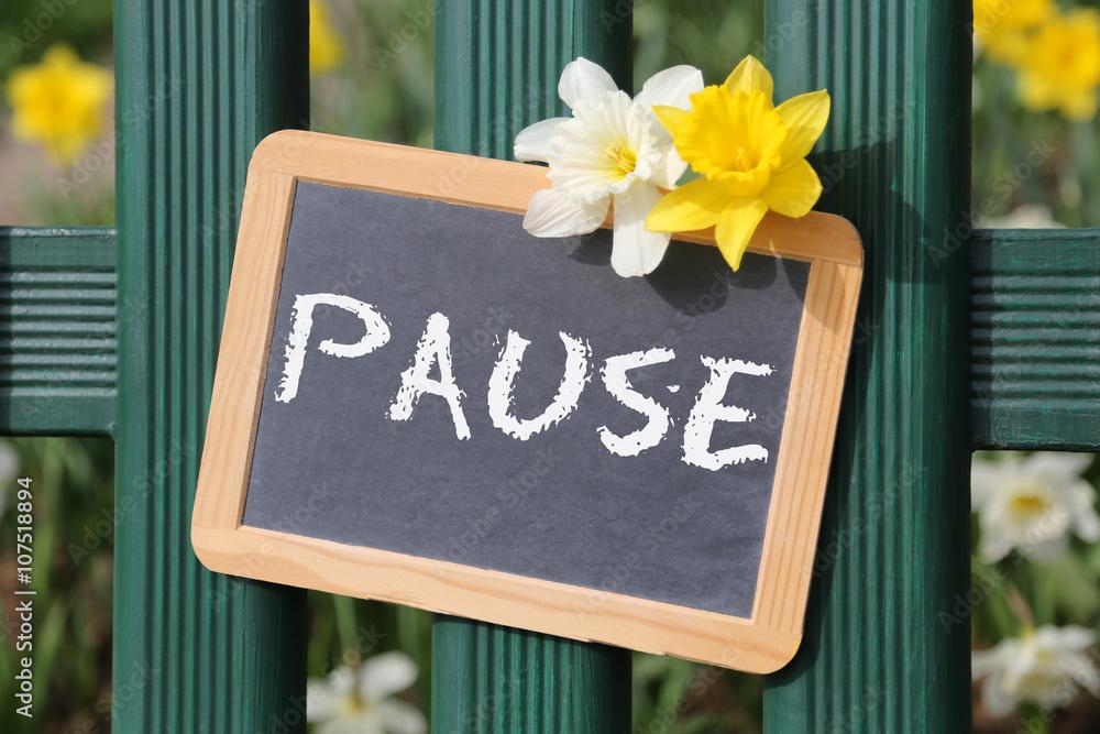 Photo Art Print Pause Garten Mit Blumen Blume Im Frühling Tafel
