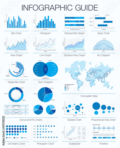 Useful infographic guide set of graphic design elements histogram set of graphic design elements histogram arc and venn diagram ccuart Gallery