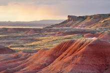 Sunset In The Painted Desert National Park, USA