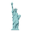 Isolated statue of liberty on white background.