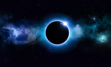 Deep Space Solar Eclipse
