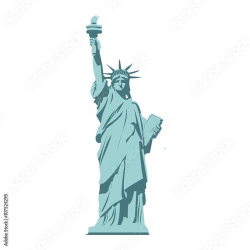 Fotografia Isolated statue of liberty on white background.
