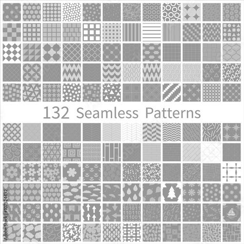 Poster Artificiel set of semless patterns