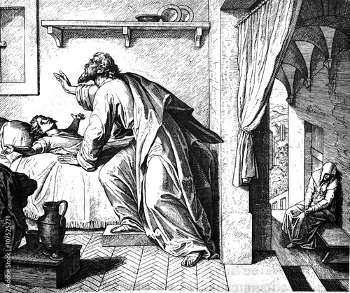 Photo  Elijah Raises Widow's Son 1) Sacred-biblical history of the old and New Testament