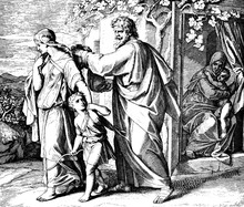 Abraham Sends Ishmael Away 1) Sacred-biblical History Of The Old And New Testament. Two Hundred And Forty Images Ed. 3. St. Petersburg, 2) 1873. 3) Russia 4) Julius Schnorr Von Carolsfeld