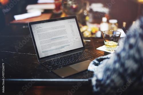 Valokuva  Hobby Writer Working Typing Article Concept