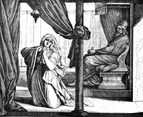 Hannah Prays for Child 1) Sacred-biblical history of the old and New Testament Tapéta, Fotótapéta