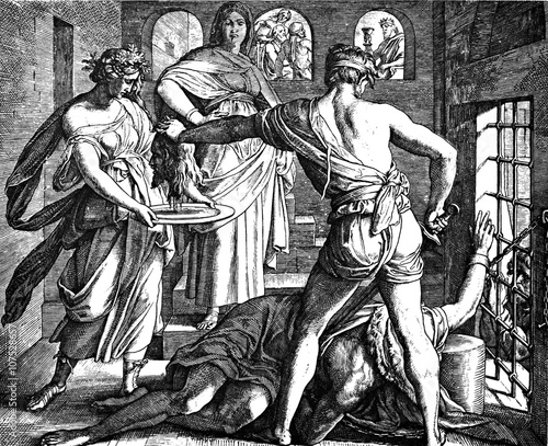 Beheading of John the Baptist 1) Sacred-biblical history of the old and New Testament Canvas Print