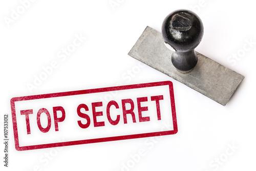 Photo  top secret text sign label stamp.