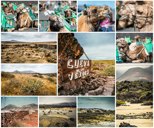 Spoed Foto op Canvas Oceanië picturesque views and sights of Lanzarote in Canary islands
