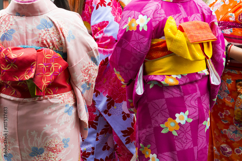 Back view of the Japanese Woman with Kimono Tablou Canvas
