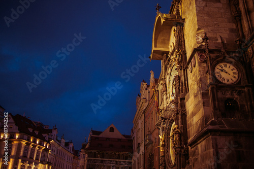 Photographie  Beautiful Prague medieval town landscape, travel location, build