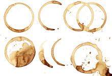 Real Coffee Ring. Text Space. Isolated