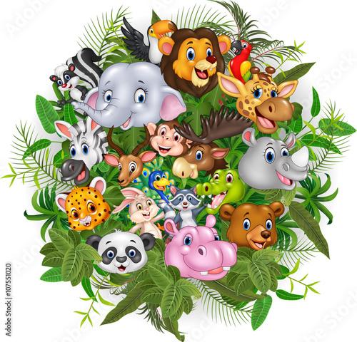 Cartoon safari animals