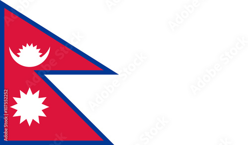 Fotografie, Obraz  Nepal flag